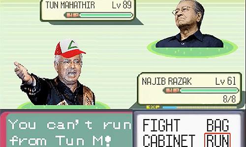 Najib vs Mahathir dalam 'perang Pokemon'