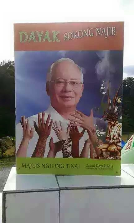 Buku program sempena lawatan Najib ke Sarawak bagi sambutan Gawai