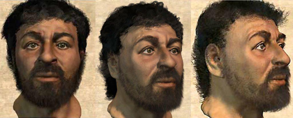 Wajah Yesus hasil dari antropologi forensik. Kredit: Popular Mechanics
